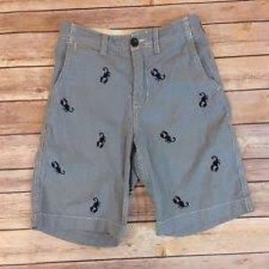 Gap Kids Boy's Shorts Blue/White Scorpion Size 16H